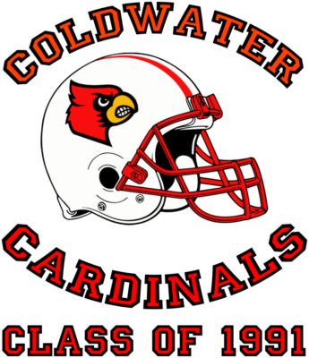 coldwater cardinals 1991 tshirt design front by the green cheetah photo&design