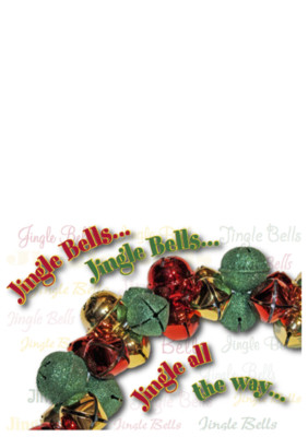 """""""jingle"""" card front by the green cheetah photo&design"""