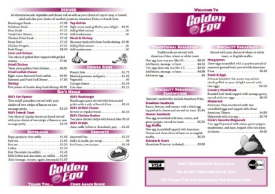 menu front by the green cheetah photo&design