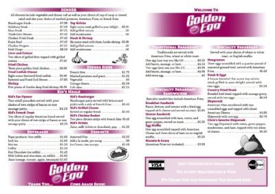 menu front by the green cheetah photo&design